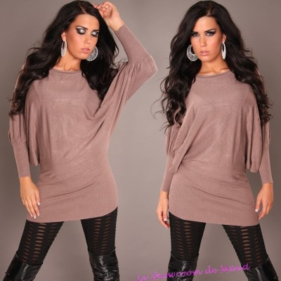 Pull taupe fashion