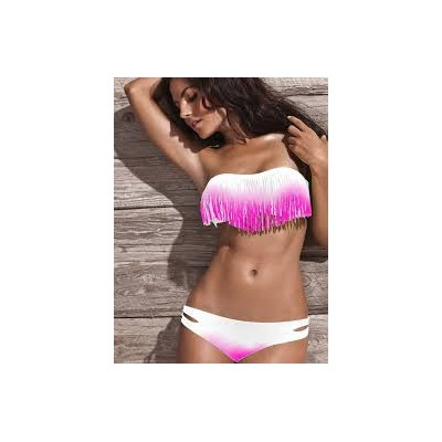 Bikini franges rose
