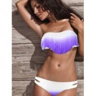 Bikini franges violet