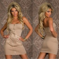 Robe bustier taupe