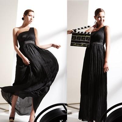 Robe longue asymétrique