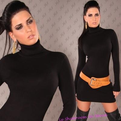 Tunique noire laine