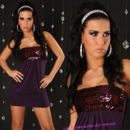 Robe prune paillettes