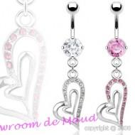 Piercing nombril coeur