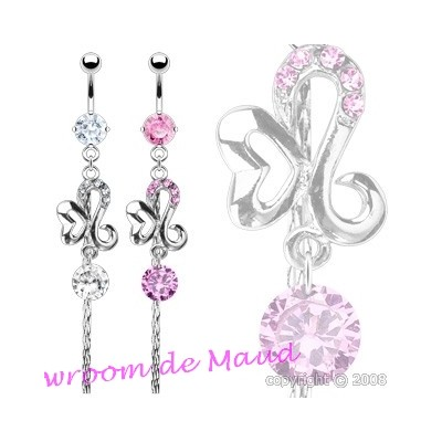 Piercing nombril strass
